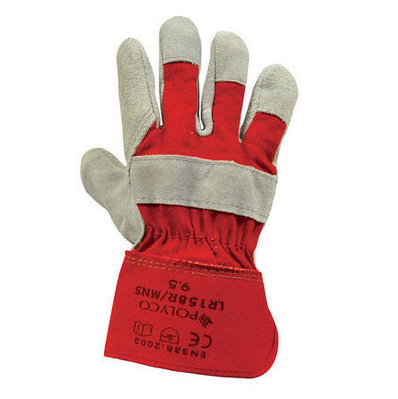 Polyco Premium Chrome Rigger Leather Gloves LR158R